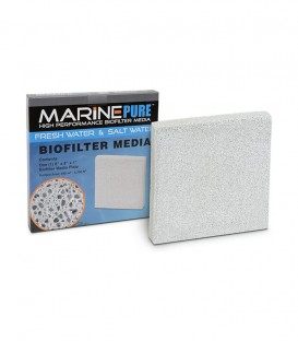 MarinePure Aquarium Bio Filter Media Plate, 8 x 8 x 1 inch, 8''x 8''x1''