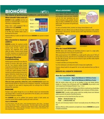 Biohome Plus beneficial bacterial removes ammonia nitrite nitrate