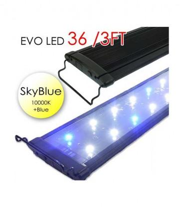 "Odyssea EVO LED lighting 36"" 3ft 72W - Skyblue 10000K & Actinic Blue"