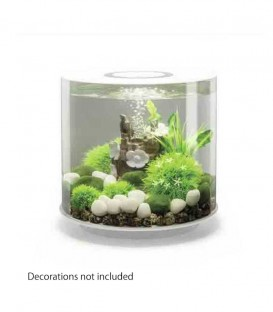 biOrb Tube 15 MCR Cylindrical Aquarium (White)