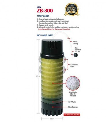 Ziss ZB-300 Bubble Bio self-cleaning media filter