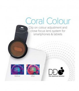 D-D Coral Colour Clip-on Lens