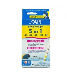 API 5-in-1 Aquarium Test Strips