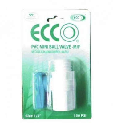 ECCO PVC Mini Ball Valve M/F 16mm