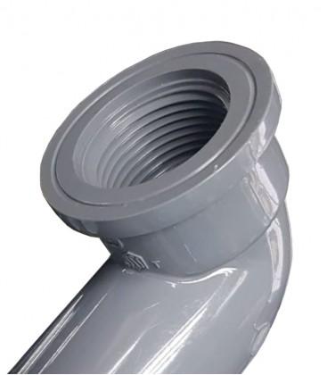 PVC 90-Degree Faucet Elbow (various sizes)