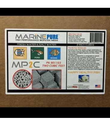 MarinePure MP2C 2-inch cube filter media