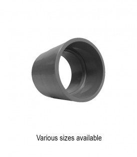 PVC Straight Coupling Slip Connector (various sizes)