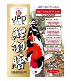 JPD Koi-Gozen Series Silkworm Pupae For Koi Fishes Reptiles Birds (500g)