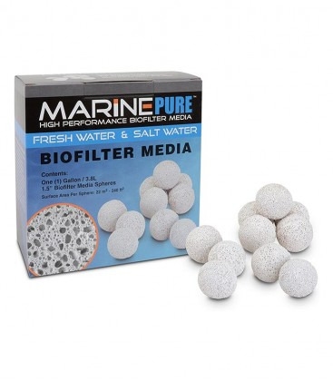 MarinePure 1 Gallon Spheres Bio Filter Media