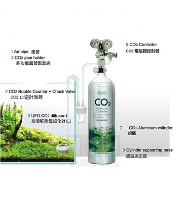 ISTA 2L CO2 Aluminium Cylinder Set