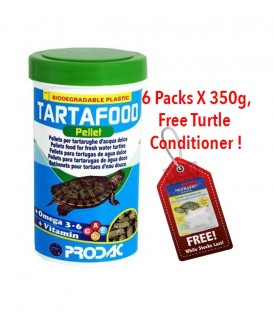 Prodac Tartafood Pellet Turtle Food 350g PD-TARP1200 (Pack of 6)