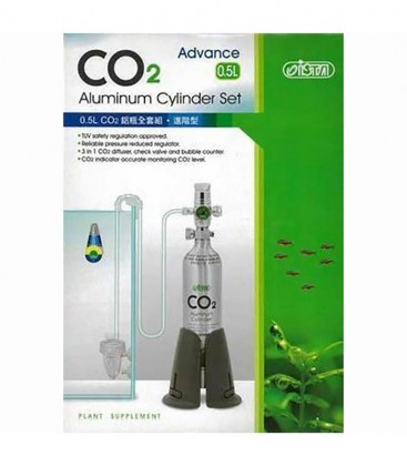 ISTA 0.5L CO2 Refillable Face Up Cylinder Complete Kit I-674