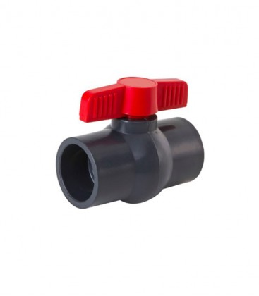 PVC Compact Ball Valve Red Tap (various sizes) non threaded