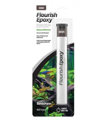 Seachem Flourish Epoxy Brown 114g (SC-3126) aqua scaping glue - planted tank