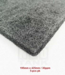 N30 Premium Carbon Nano-Wool filter media 195mm x 435mm (5-pcs Pack) (N0006)