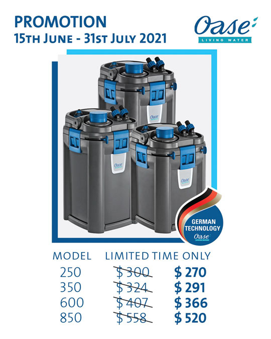 oase biomaster promotion 205, 350, 600, 850 offer discounts
