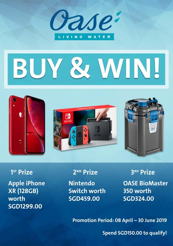 Win an iPhone - Buy OASE Promotion