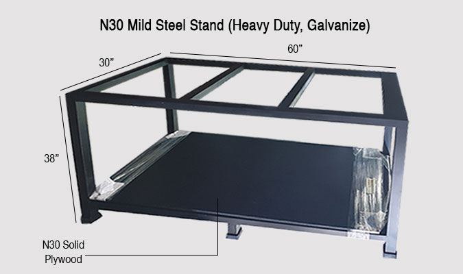 Brand New 2-tier N30 Galvanised Mild Steel Heavy-Duty Stand