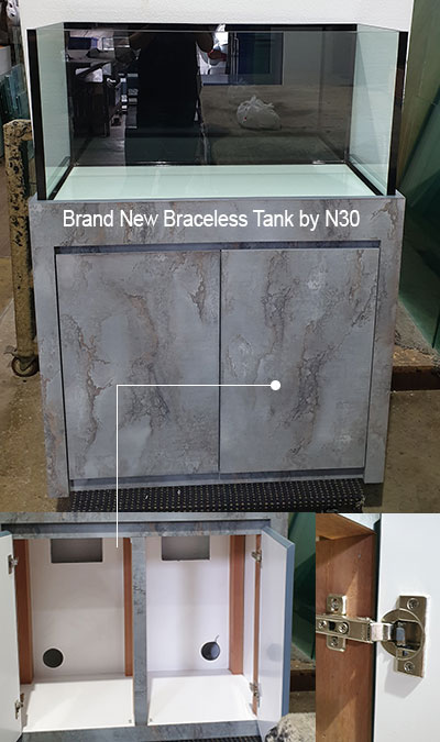 N30 Brand New 3 Feet Braceless Tank with Cabinet