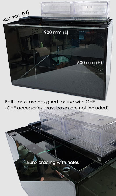 Sale of fish tanks, euro bracing top, Japan grade 1 glass.