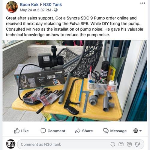 Facebook review, N30 Tank fish tank accessories