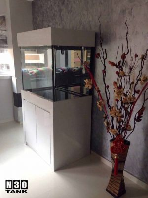 3ft-003 N30 Tank - 3ft Tank with Cabinet. All Japan Grade 1 glass Arowana Tank Set.