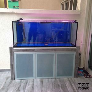 "5ft-006 N30 Tank - 60"" (L) Arowana Tank Set. Under Water Led Tanning Light x 2no"