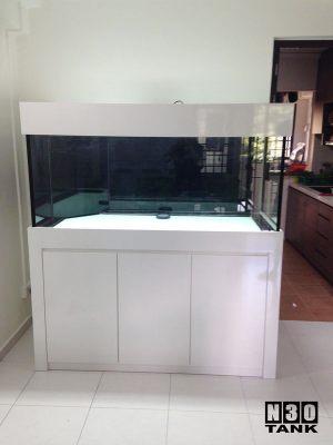 5ft-008 N30 Tank - 5ft Arowana Comm Tank Set With Cabinet Tank Set