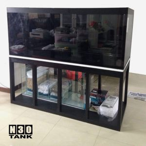 6ft-0008 N30 Tank - 6ft Arowana Comm Tank Set With Wooden Stand Tank Set