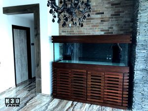 6ft-0011 N30 Tank - Solid Wooden Cabinet With Dark Walnut Varnish and Lacquer Finishes (New Design)