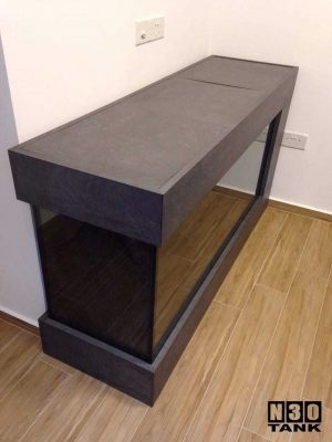 6ft-0015 N30 Tank 6-feet Floor Tank. This aquarium tank doubles as a table top. Ideal in living hall. Plenty of table space for charging phones, gadgets, router, electronics. Unobstructed view of fishes yet practical and space-saving.