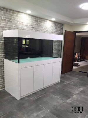6ft-15 N30 Tank - Classic white aquarium of contemporary design and built by N30 for modern living.