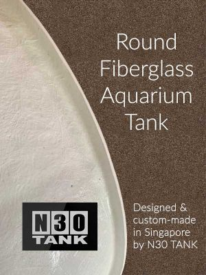 High-quality Fiberglass Aquarium Tank custom-made in Singapore by N30 Tank.