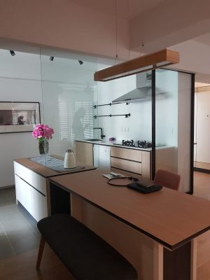 Modern island kitchen concept interior design & carpentry