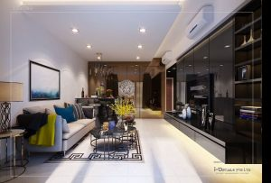 Modern living interior design & carpentry