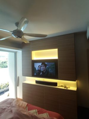 TV panel wall design & carpentry