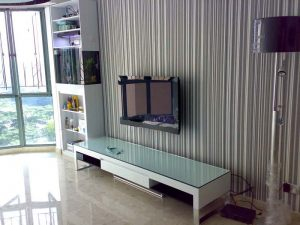 TV console with tank