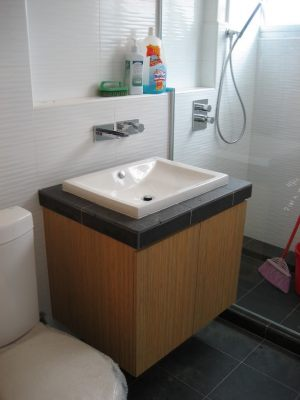 Washroom basin carpentry