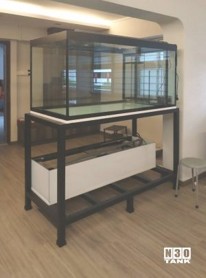 MTL-804: N30 Tank 2 Tier Heavy Duty Galvanised Mild Steel Stand. 5ft x 2.5ft x 2.5ft with side ious filter. Bottom Tank 5ft x 1.5ft x1ft (H) with side ious filter.