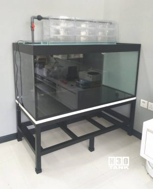 MTL-808: N30 Tank 4ft x 2ft x 2ft with low profile stand. N30 Glass base ohf tray set.