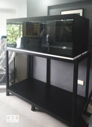 MT-817: N30 Tank 60 inch (L) x 30 inch (W) x 24 inch (H) with heavy-duty mild steel stand and solid-plywood varnished bottom base for storage.