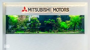 Mitsubishi car showroom aquarium - custom-built & maintained by N30 Tank Singapore