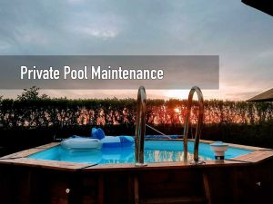 Private swimming pool maintenance service
