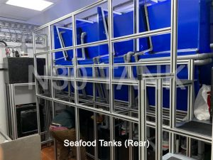 Restaurant Seafood Tanks (rear room) built by N30 Tank Singapore