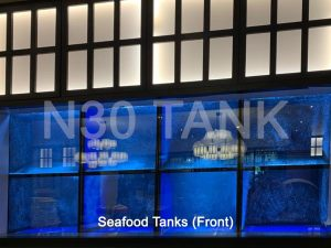 Restaurant Seafood Tanks (front view) built by N30 Tank Singapore