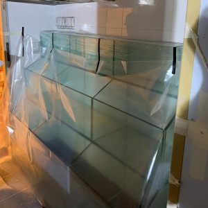 3 Levels Seafood Tank. All glass. Fully custom-made by N30 Tank.