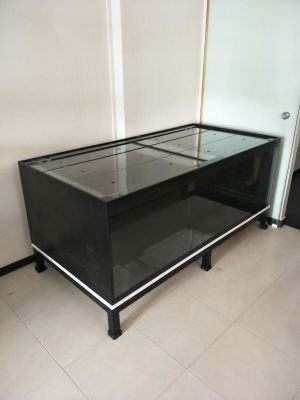 unique-005 N30 Tank - Low Profile Aquarium, 12mm all 6ft x 3ft x 2ft h with low profile heavy duty mild steel stand.